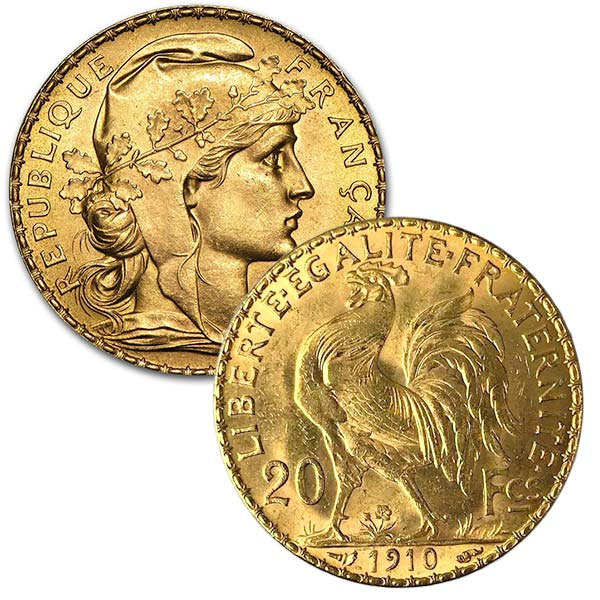 20 Franc Gold Coins