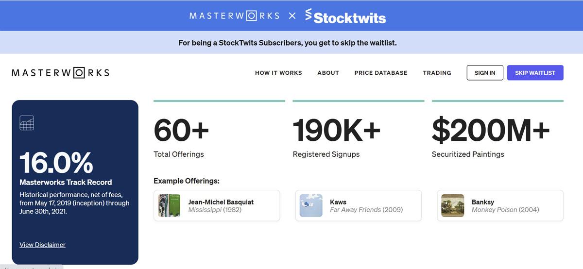 masterworks investing